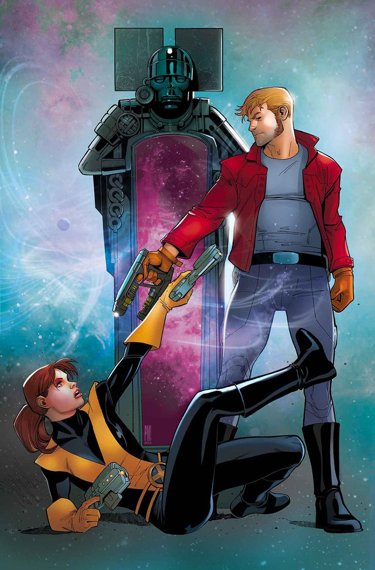 Starlord vs Kitty Pryde by Paco Medina