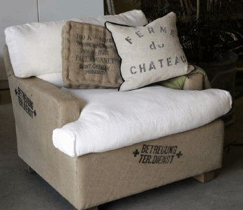 Burlap daybed