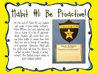 Adventures of Ms. Smith: Activities & a Freebie for Habit 1: Be Proactive!