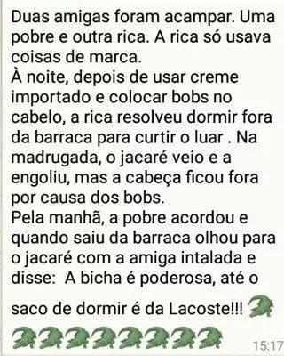 Post  #FALASÉRIO!  : PIADA DO DIA !