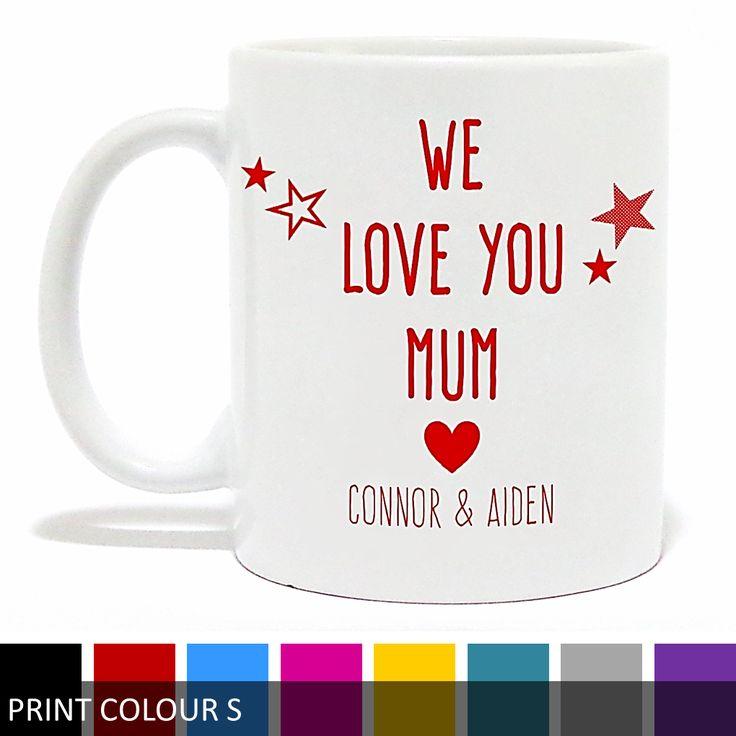 Personalised 'I Love You Mum/Mummy' Mug