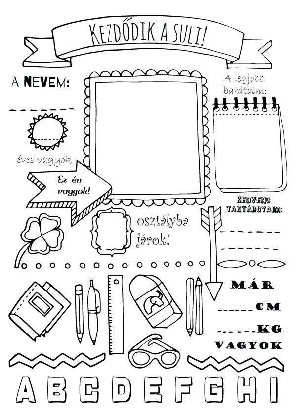 Kezdődik az iskola, színező gyerekeknek! Back to school coloring page for kids.
