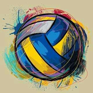 Love this volleyball paint