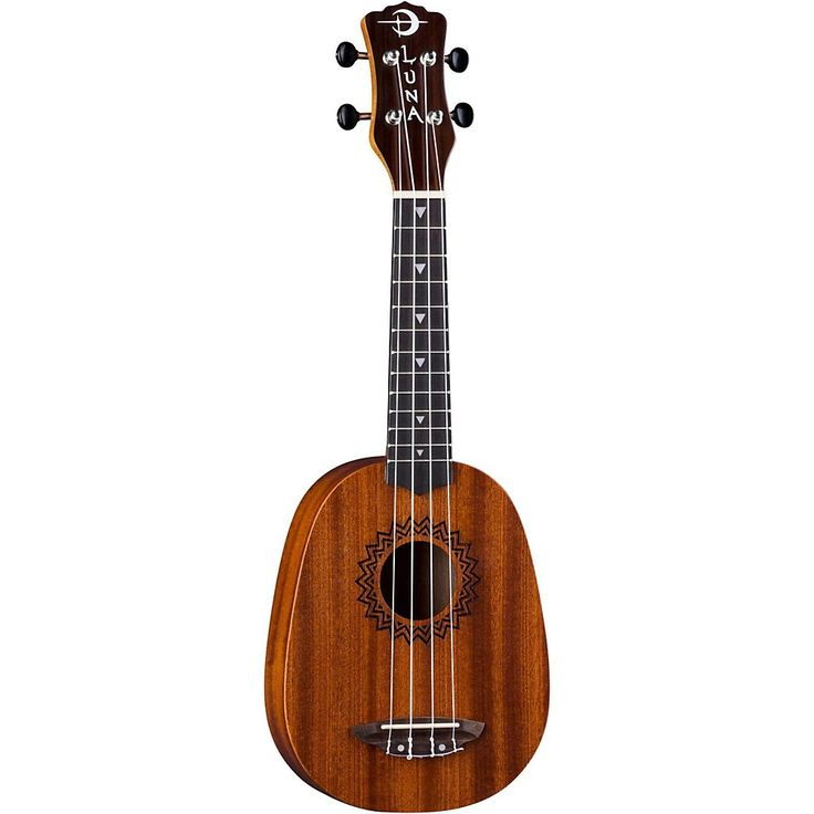 Luna Guitars Vintage Mahogany Pineapple Ukulele Satin Natural