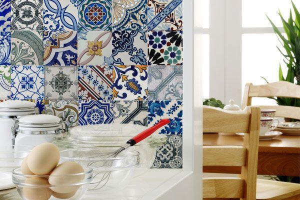 Adesivo para Azulejo - Português: Ideas For, Idea, Home, For Experiment, Adhesive, Casa Enfeitando, House
