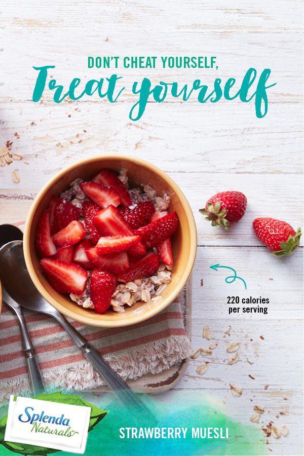 Everyone deserves a morning to themselves once in awhile. There's no better way to kick back and relax than with a sweet breakfast in bed. Try our recipe for Strawberry Muesli for a treat that's sweetened with the great taste of SPLENDA® Naturals, our new stevia sweetener with zero calories and no bitter aftertaste.