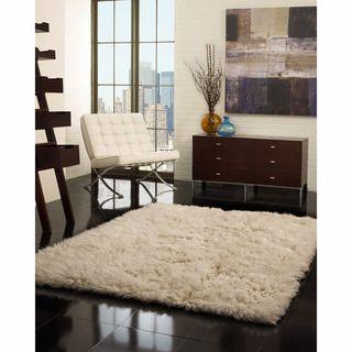 living room?   Hand-woven Alexa Flokati Wool Shag Rug (3' x 5') | Overstock.com