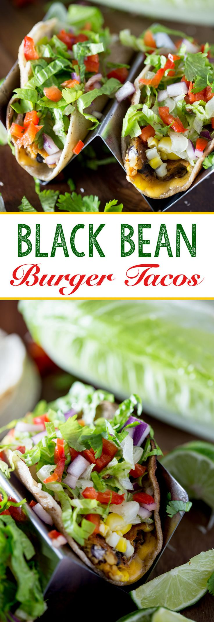 Chipotle Black bean burgers made into vegetarian tacos for an easy ...