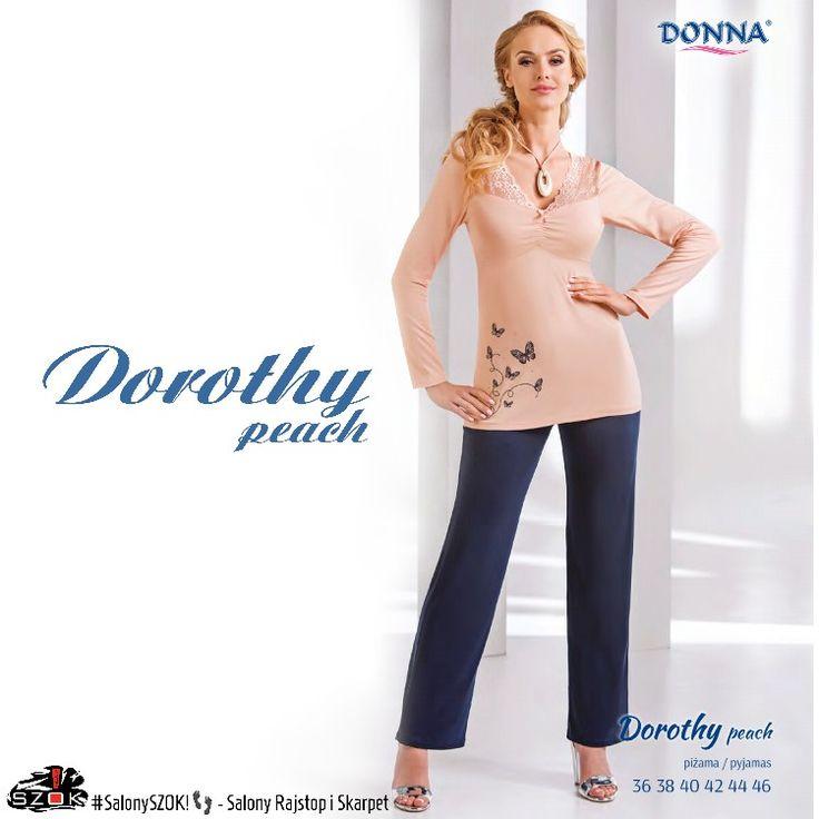 🔴 #Przepiękna brziskwiniowo-granatowa #piżamka #Dorothy firmy #Donna z #delikatnym #motywem w #motylki to idealne rozwiązanie na #chłodne #noce! Serdecznie Zapraszamy ➡️ #SalonySZOK!👣