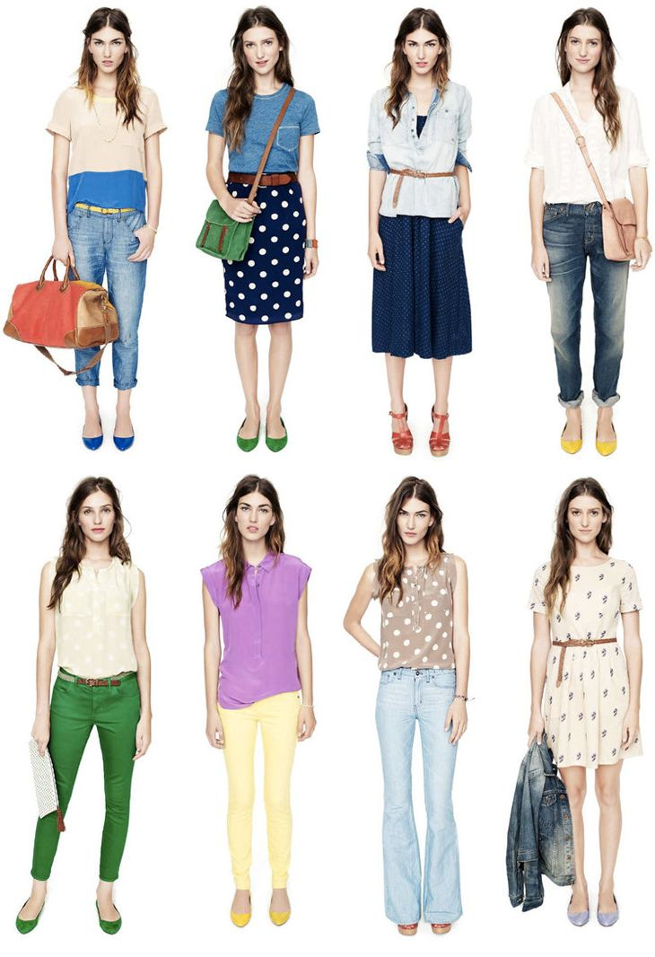 Madewell's Spring Collection. Color pops.
