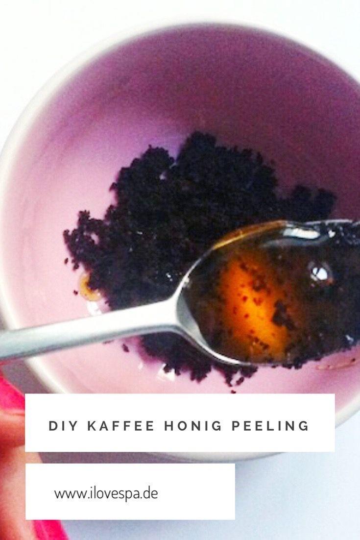 Kaffee Honig Gesichtspeeling selber machen - DIY Kaffee Honig Peeling für's Gesicht