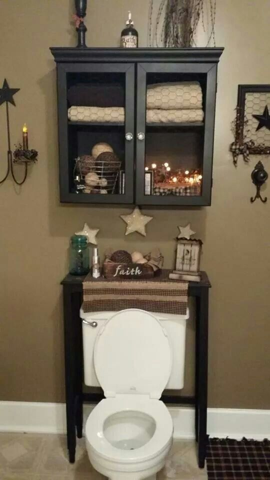 16 best country bathroom decor images on pinterest for Country bathroom design ideas