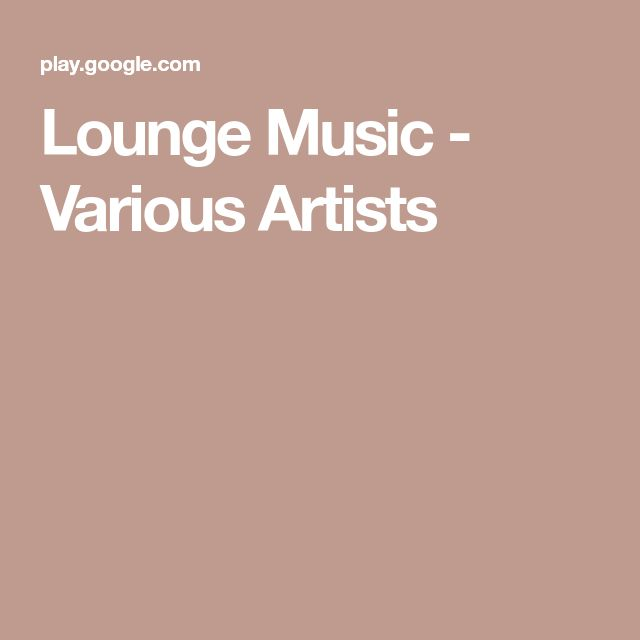 Lounge Music - Various Artists