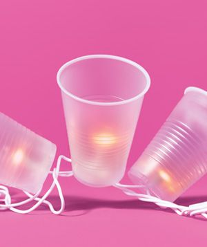 Make party lanterns out of plastic cups. | 27 Best Summer Party Hacks