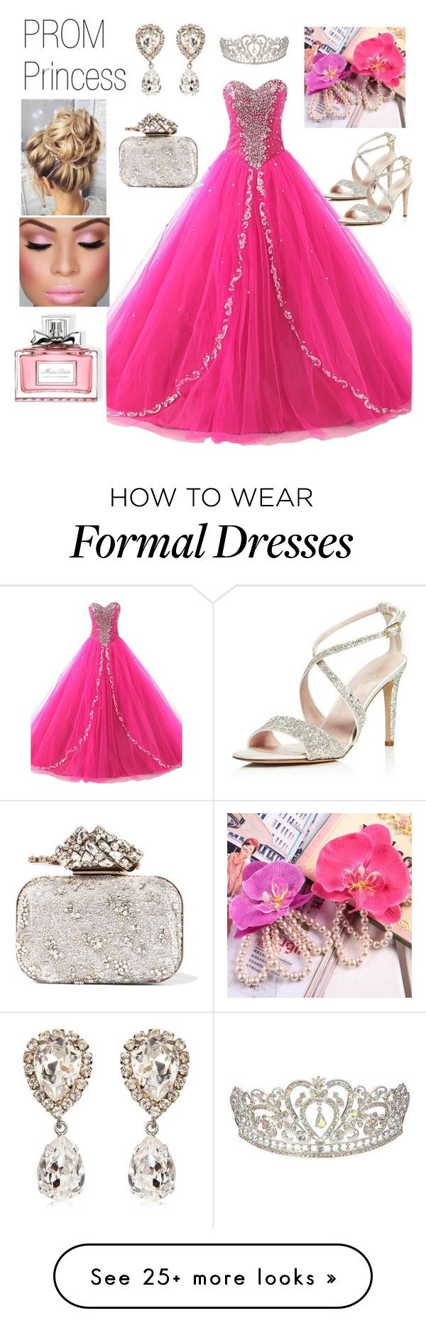 """Prom Princess"" by boutiquebrowser on Polyvore featuring Dolce&Gabbana, Jimmy Choo, Kate Spade, Sunset Hours and Christian Dior"