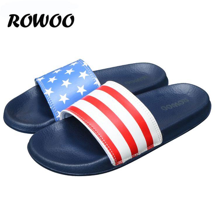 Hot New Summer Men Flat Flip Flop Non-Slip Designer Striped Sandals Home Slippers Man Fashion Slides Casual House Pool  Sandals #Affiliate