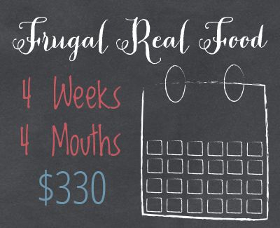 Are you looking to save money on real food? Get a collection of monthly menus, featuring delicious real food and the best part, they can feed the average family of 4 and shopped for just $330!