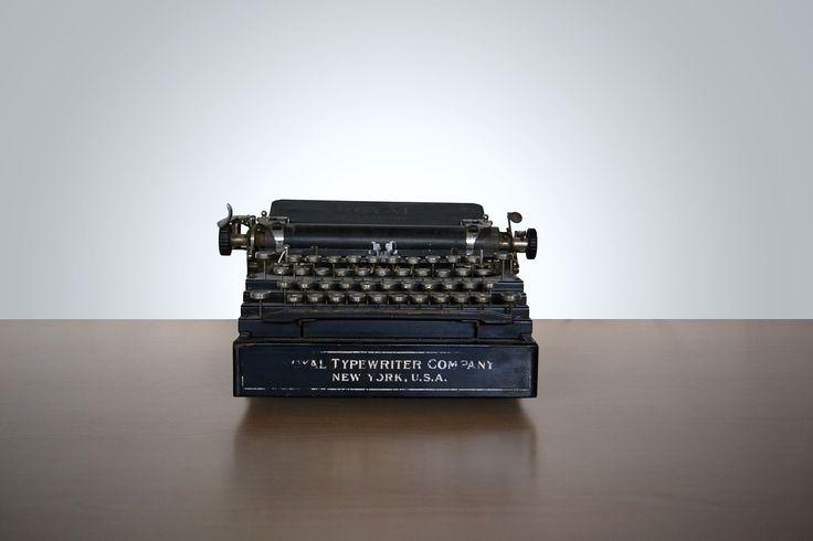 Vintage, Typewriter, Write, New York, Letters