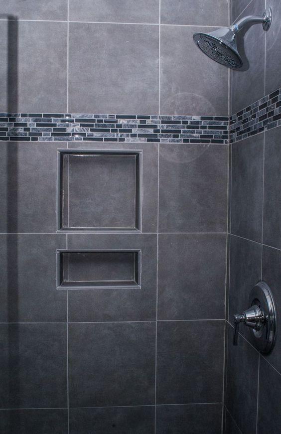 25 besten tile shower Bilder auf Pinterest kleine Bäder - badezimmer mit grauen fliesen