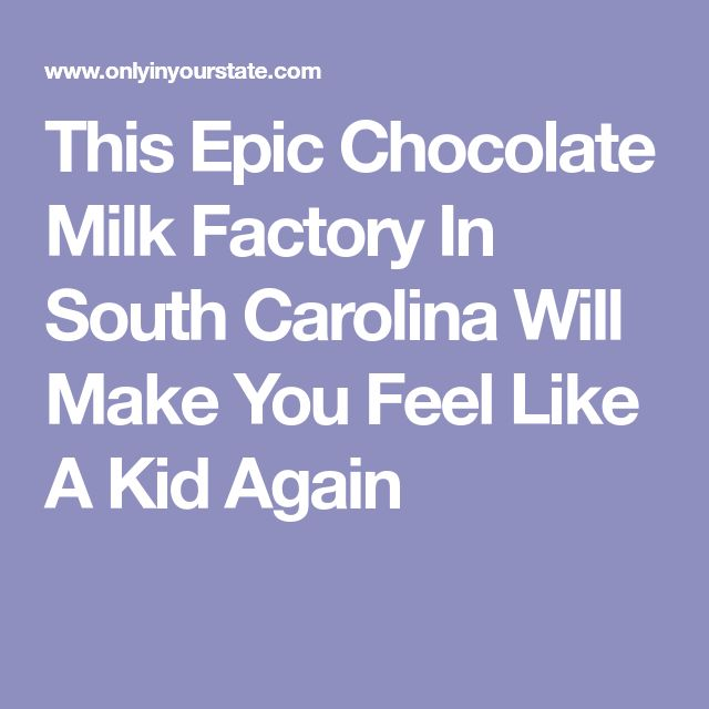 This Epic Chocolate Milk Factory In South Carolina Will Make You Feel Like A Kid Again