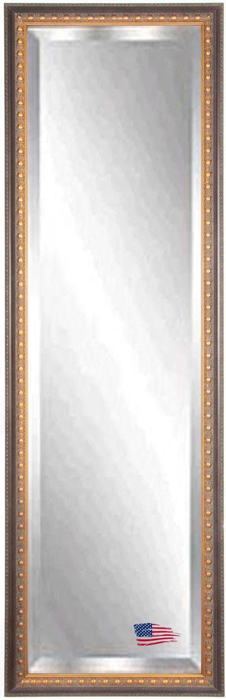 Jovie Jane Traditional Cameo Bronze Full Length Beveled Body Mirror