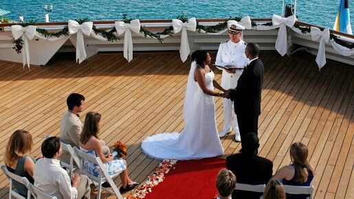 Disney cruise wedding deck