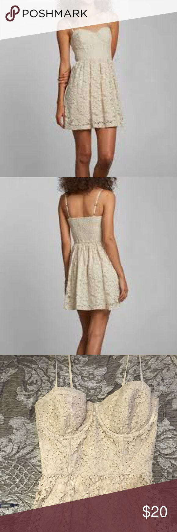 Abercrombie and Fitch Corset Style Dress •Fully lined lace dress with corset style torso •Worn a handful of times, no damage •Adjustable straps Abercrombie & Fitch Dresses Mini