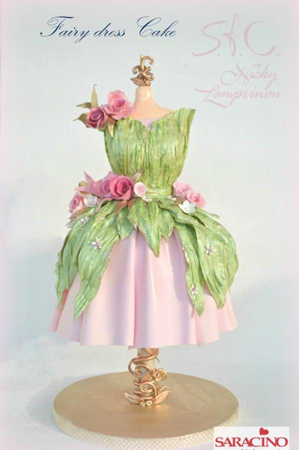 Fairy dress cake by Sugar  flowers Creations
