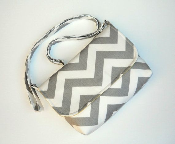 Hey, I found this really awesome Etsy listing at http://www.etsy.com/listing/158286024/small-gray-chevron-purse-mini-messenger