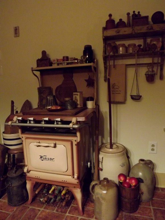 Stove In Kitchen : Antique Stove in Kitchen  Vintage Kitchens...Antique Vintage Applian ...
