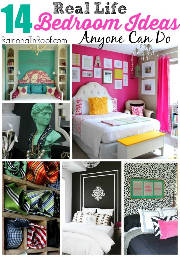 These really are REAL LIFE ideas!! AND they are super affordable, functional and pretty! 14 Real Life Bedroom Ideas Anyone Can Do
