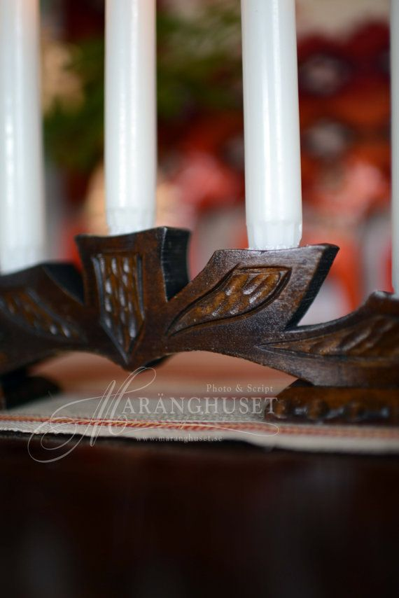 Advent Folklore  One Candlesticks  Wood by Maranghouse on Etsy