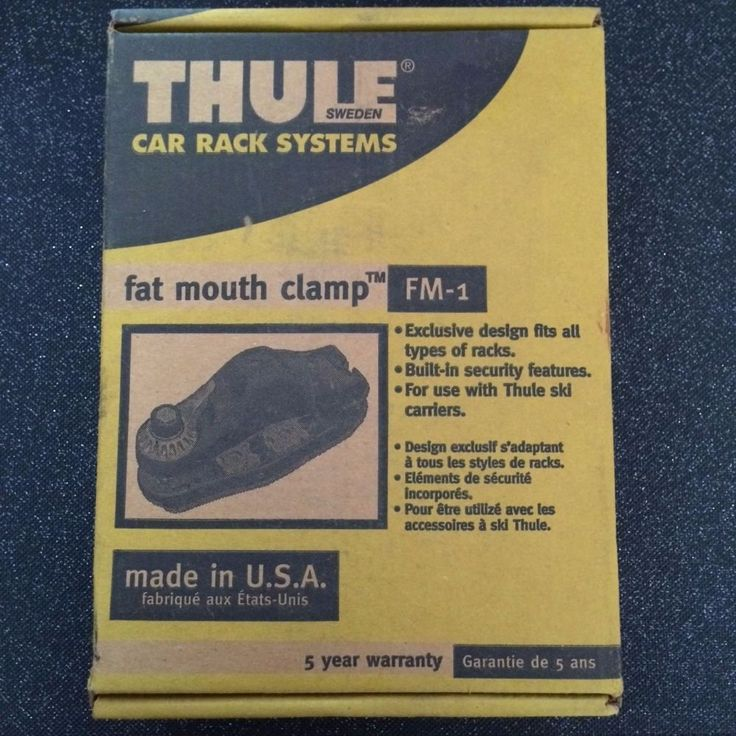 Thule Fat Mouth Clamps FM-1  Rack Systems Unused Winter Sports Ski Carriers #Thule