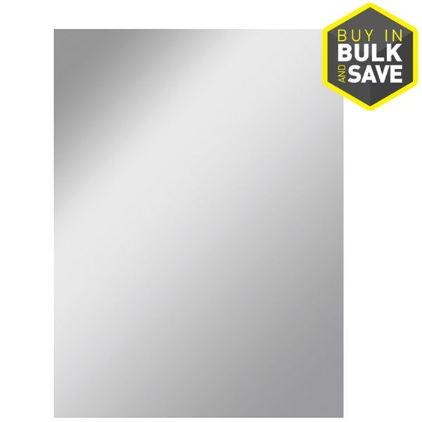 Shop Style Selections  30-in x 36-in Silver Polished Rectangle Frameless Traditional Wall Mirror at Lowe