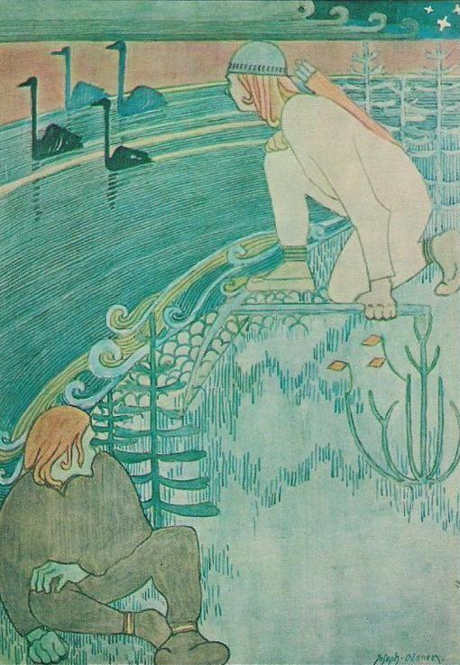 Joseph Alanen(1885ー1920)「Lemminkäinen ja Tuonelan joutsen(Lemminkäinen and the Swan of Tuonela)」