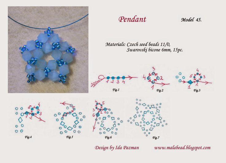 free beadwork pattern, MalaBead: Model 45.