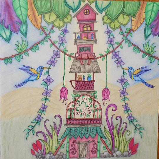Johanna Basfords Magical Jungle Colored By Linda Swirski
