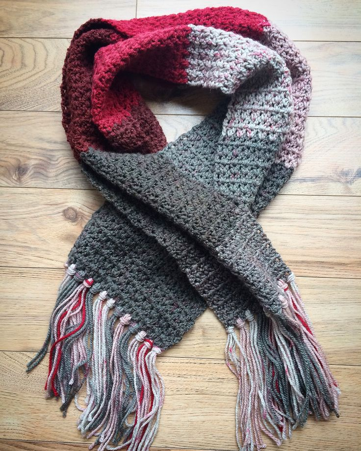 Caron Knitting Patterns : Simple crochet scarf using Caron cakes ? #crochet #caroncakes #redvelvet Kn...