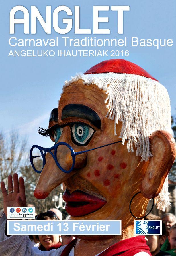 carnaval traditionnel basque d'Anglet ANGELUKO IHAUTERIAK 2016