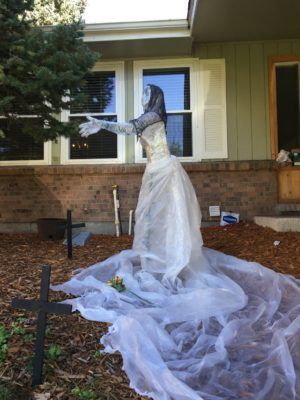 packing tape Halloween ghost decorations