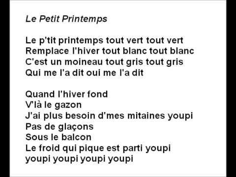 Le p'tit printemps (Passe Partout - Canelle et Pruneau) - YouTube