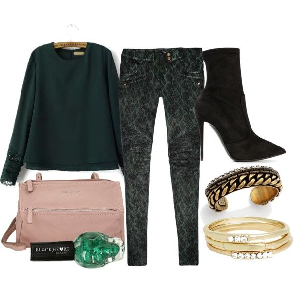Untitled #1636 by linneabryngnas on Polyvore featuring Balmain, Giuseppe Zanotti, Givenchy, DANNIJO and Jules Smith