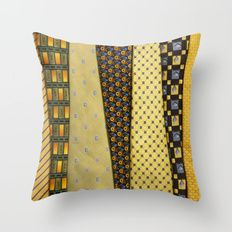 Load of Ties - Yellow 2 Throw Pillow by I Love the Quirky