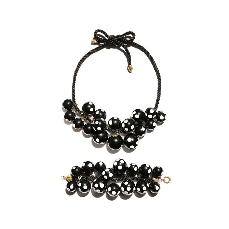 Vintage Miriam Haskell necklace & bracelet set by Frank Hess, c. 1930