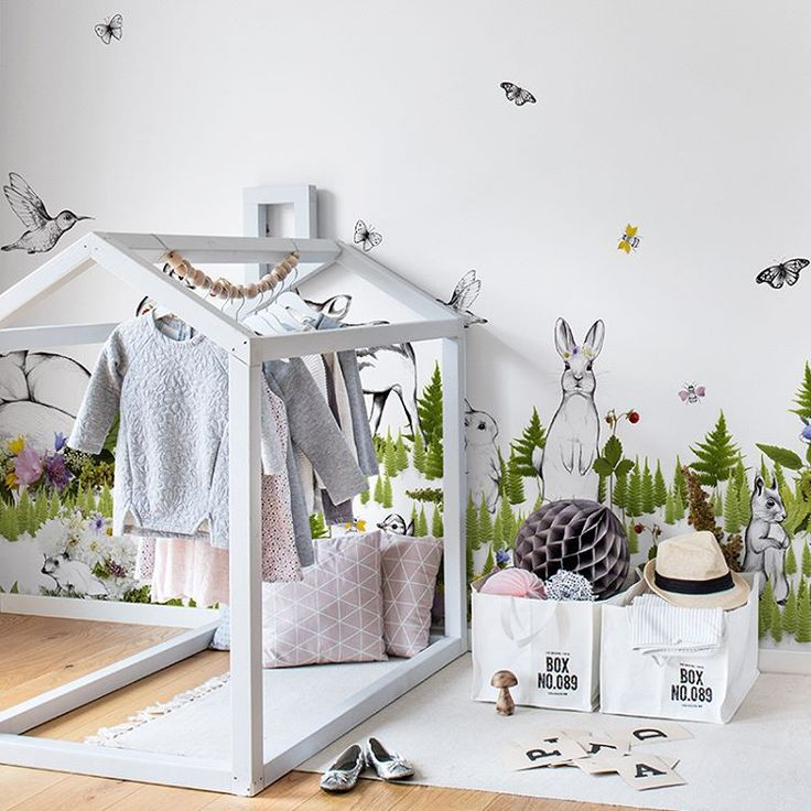 Create a lush and enchanting woodland scene in your home – and invite all the animals of the woods to join you with this detailed forest mural   #linkinbio #scandinaviandesign #interiordesign #interior #design #wallmural #wallpaper #wallhanging #wallcovering #tapet #tapete #fototapet #fototapete #inredning #interiorstyling #styling #decorate #rebelwalls #storytime #storytimecollection #kidsroom