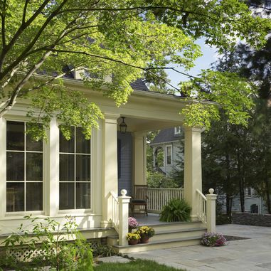 Glassed in side porch design ideas pictures remodel and for Side entrance porch designs
