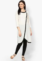 Aum White Solid Kurtis Online Shopping Store