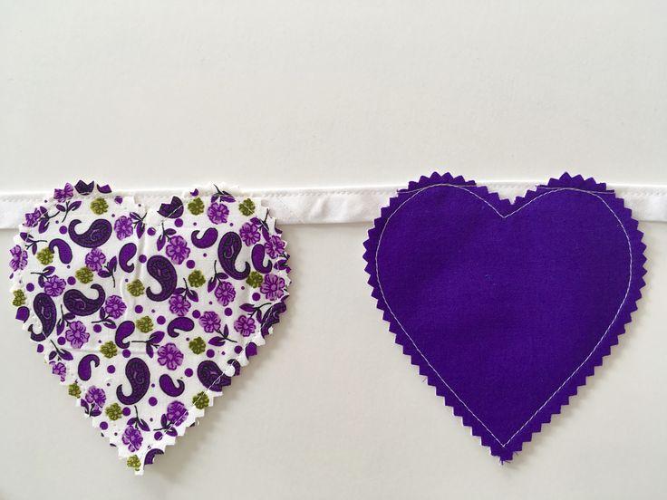 Purple decor purple nursery love heart garland heart bunting