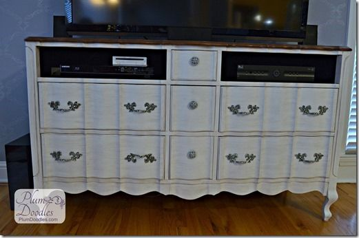 Dresser to TV Stand   PlumDoodles.com