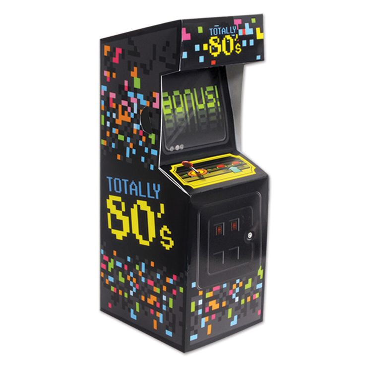 Arcade Video Game Table Centerpiece - 80 s Party - Tableware